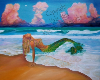 oil on canvas 20 x 30 Now available at Bohemian Moon Boutique 5740 N. Broadway K.C., Mo