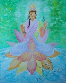 """Kwan Yin"" oil on canvas 24 x 30"
